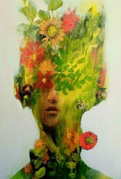 Acrylic, Pressed Flowers